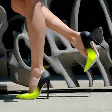 women u0027s lime and black stiletto heels dress shoes pointy toe