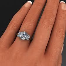 2 carat ring ring 2 carat oval neo moissanite 3 engagement ring