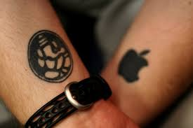60 apple iphone logo tattoos