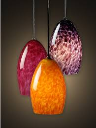 Blown Glass Pendant Lighting Tiny Bubbles Glass Pendant Light Artisan Crafted Lighting