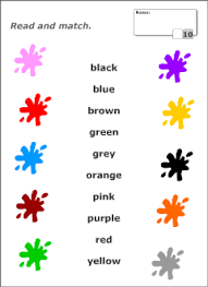 colours vocabulary for kids learning english printable resources