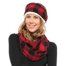 infinity headband woolrich knit headband and infinity scarf set for women