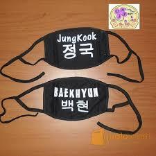 Masker Exo masker jungkook bts baekhyun exo kpop bangtan boys bau bau jualo