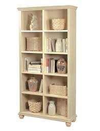 Shallow White Bookcase by Aspenhome Essentials Casual Traditional 77