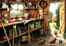shed interior farms garden shed edward hersey chickens tools doorway storage
