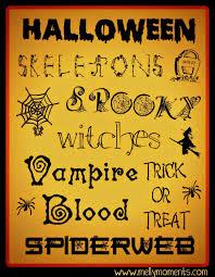 12 free halloween printables
