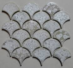 11pcs white fish scale ceramic mosaic tile kitchen backsplash