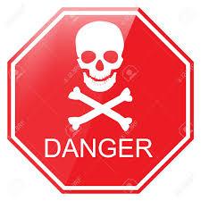 vector illustration red octagon danger sign with skull symbol vector illustration red octagon danger sign with skull symbol warning sign stock vector 55645403
