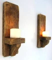 Jar Candle Wall Sconce Sconce Tea Light Candle Wall Sconces Wooden Candle Holder Rustic