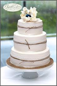 wedding cake rustic rustic country wedding cakes lace twine wedding cake with