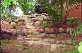 boulder wall stone wall and landscape retaining wall design