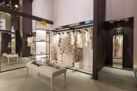 hand made custom garment racks showroom displays by iron work