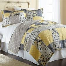 Grey And Yellow Comforters Yellow Quilts U0026 Bedspreads For Less Overstock Com