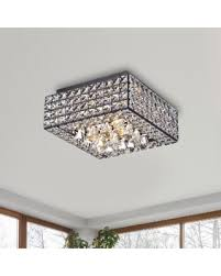 Square Chandelier Amazing Shopping Savings Gisela Modern Square Flush Mount