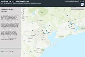 houston map jersey environmental integritymap of pollution spills onto land and water
