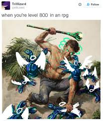 Rpg Memes - when you re level 800 in an rpg gaming know your meme