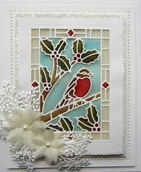 sue wilson designs die festive collection stained glass