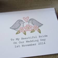 Card For Bride From Groom Personalised Bride Groom Wedding Day Card By Caroline Watts