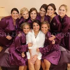 and bridesmaid robes set of 7 silk satin bridal bridesmaid robes