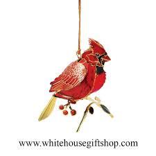 cardinal bird ornament year display summer sale 24kt