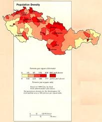 Population Density Map Of The World by Czechoslovakia Population Density Map Czechoslovakia U2022 Mappery