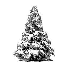 Black Christmas Tree Uk - crafty individuals ci 462 u0027large christmas tree u0027 art rubber
