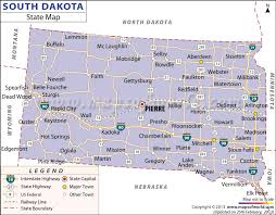 map south dakota south dakota state map