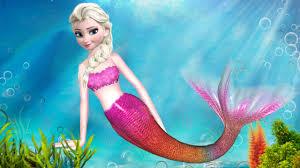 frozen elsa mermaid songs children frozen cartoon nursery