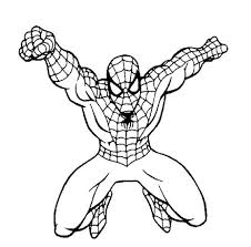 spiderman coloring pages kids ngbasic