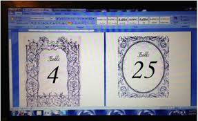 free table number templates table number templates for word wedding table numbers words of