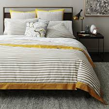 dwell studio draper stripe duvet cover king bloomingdale u0027s
