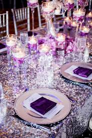 silver and purple wedding table decorations decorating of eilag