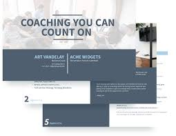 executive coaching proposal template free sample
