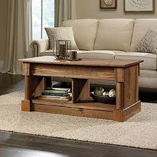 sauder coffee and end tables sauder palladia collection vintage oak lift top coffee table 420716