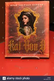 high voltage tattoo u0027 kat von d signs copies of her book u0027high