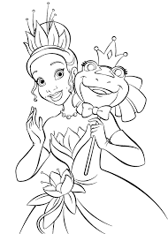 Princess And The Frog Colouring Pages The Princess And The Frog Coloring Pages