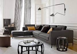 gray sectional black trim accent pillows interior design ideas