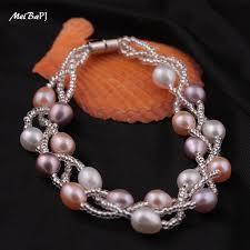 multi pearl bracelet images Multi color 5 6mm pearl bracelet jpg
