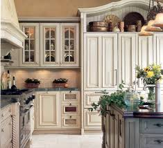 Kitchen Cabinet Top Molding by Antique White Kitchen Cabinets Kitchen Mediterranean With