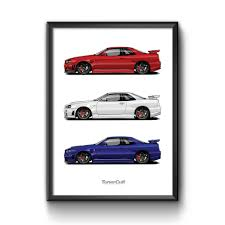 nissan skyline drawing 2 fast 2 furious poster u2013 tuner cult