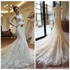 mermaid style wedding dress blush pink illusion wedding dresses real photo mermaid style