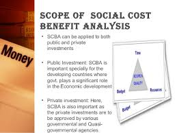 social cost benefi analysis