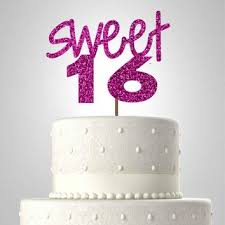 sweet sixteen cake topper bling from simplycreative2 on etsy