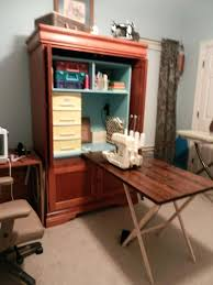 Sewing Machine Cabinet Plans by Armoires Sewing Armoire Cabinet Another Sewing Armoire Idea And