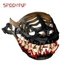 halloween teeth amazon com spookypup hilarious dog costume muzzle with large