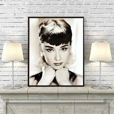audrey hepburn home decor online shop digital painting hand painted audrey hepburn portrait