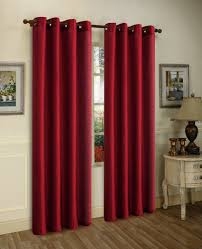 2 panels blackout lined backing silk window ds curtain dark red thermal