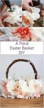 Decorating Easter Basket Ideas by Diy Easter Basket With Tulle And Flowers Kids Pinterest