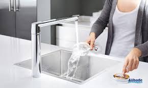 grohe evier cuisine robinet de cuisine commande sans fil grohe espace aubade