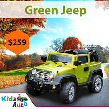kids jeep wrangler jeep green electric ride on toy cars for kids australia